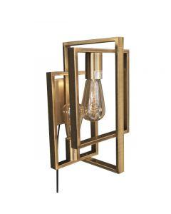 Quball  Wandlamp 2L Geborsteld Messing