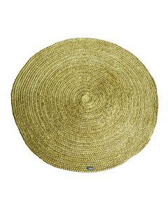 Carpet Jute round 120x120 cm - yellow