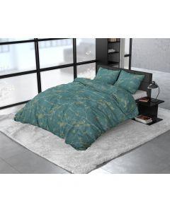 Dreamhouse - Katoen / Satijn - Groen - 140 x 220 cm
