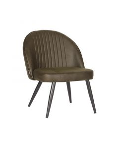 LABEL51 Fauteuil Enzo - Army green - Microfiber