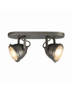 LABEL51 Spot Moto - Burned Steel - Metaal - 2 Lichts