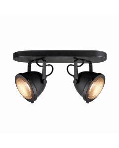 LABEL51 Spot Moto - Zwart - Metaal - 2 Lichts