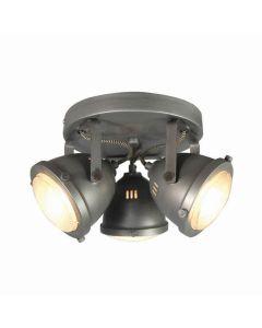 LABEL51 Spot Moto - Burned Steel - Metaal - 3 Lichts